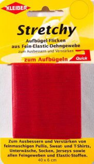 Stretchy-Bügel-Flicken, rot