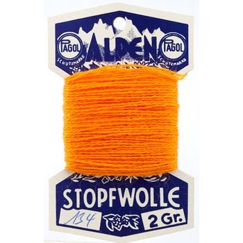 10 m Alpen- Stopfwolle - orange
