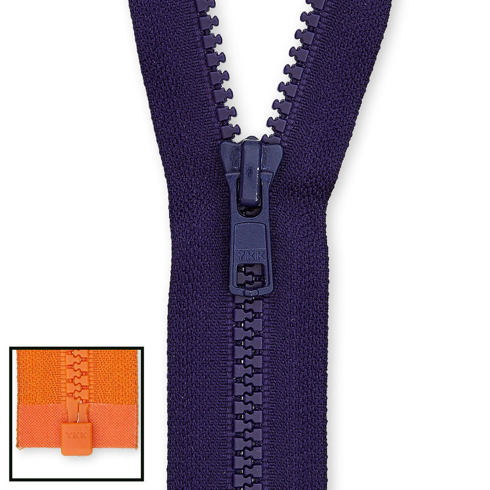 YKK Reißverschluss VSC-36 Vislon 3mm nicht teilbar 14-25cm Jacken Skikleidung