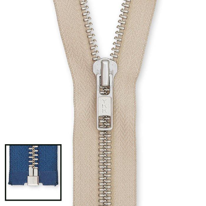 572 YKK Metall Hosen Reißverschluss 20cm hellbeige